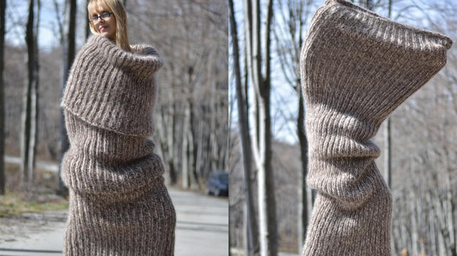 Why Wear Clothes When You Can Wear This Giant Knitted Body