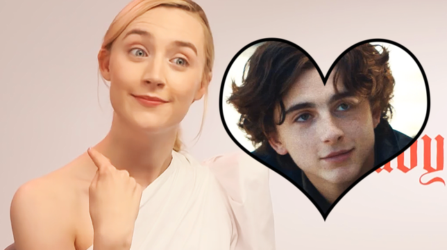 Saoirse Ronan On Why She Loves Timothee Chalamet & Their