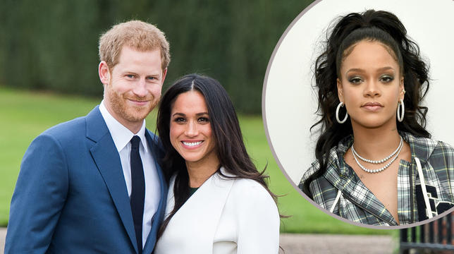 someone asked rihanna if she was invited to the royal wedding and her response was a+
