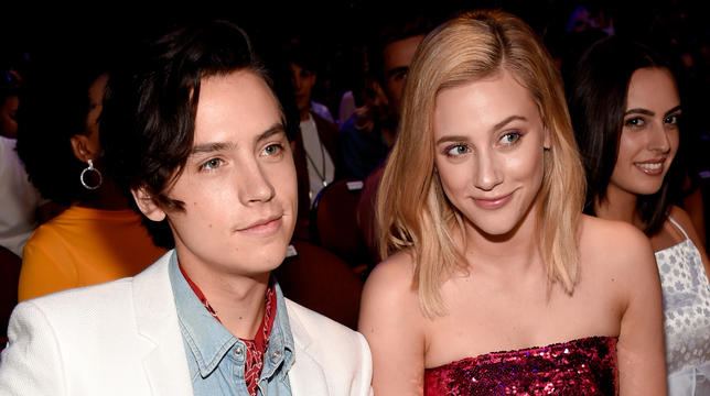 Cole Sprouse And Lili Reinhart Fetch Majorly Photobombed By KJ Apa As Riverdale Bags ALL The Teen Different Awards thumbnail