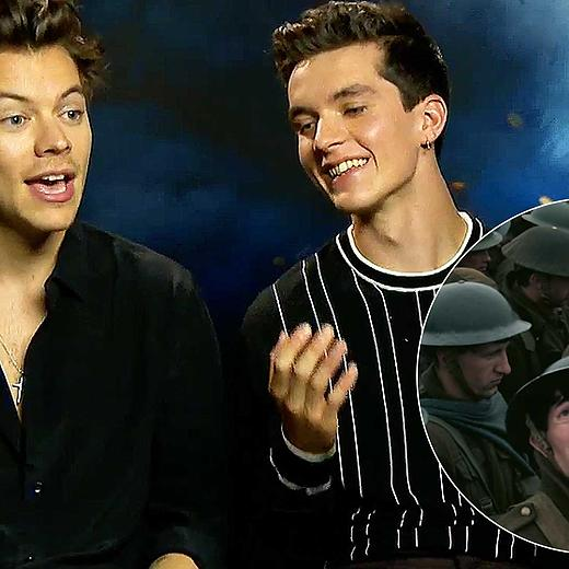 harry styles the dunkirk cast answer your fan questions mtv uk. Black Bedroom Furniture Sets. Home Design Ideas