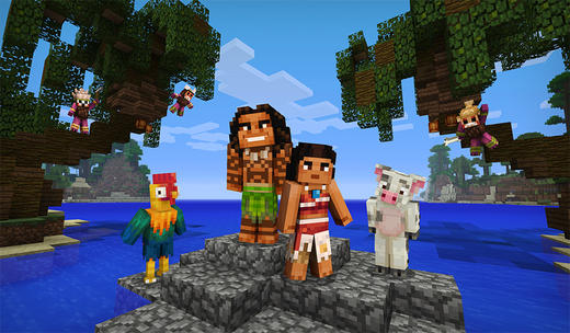 Moana in Minecraft
