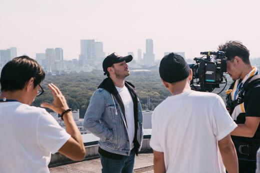 Jonas Blue on set of 'We Could Go Back' music video