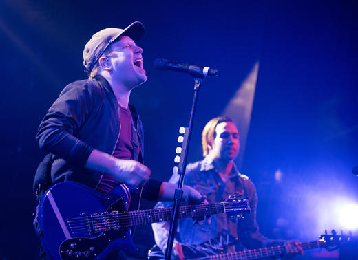 Fall Out Boy perform intimate show at London's Electric Brixton for lucky fans.