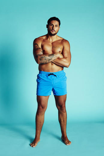Second up, we have London lad Dean. The toned, tanned and tattooed ladies' man and ex-fitness model is used to a LOT of female attention. Will he be able to handle the attention he's about to get when he lands onto the beach?