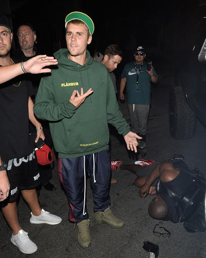 Justin Bieber was involved in a traffic accident after attending a church service.