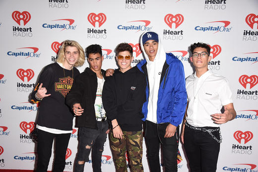 Simon Cowell's latest boyband PRETTYMUCH in 2017