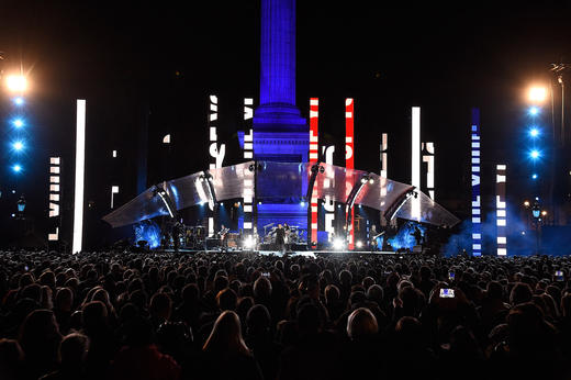 U2 Performing At MTV Presents Trafalgar Square In London