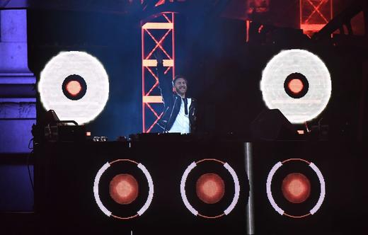 David Guetta Performing At MTV Presents Trafalgar Square In London