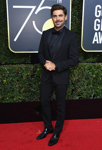 Celebs wear black to protest gender inequality and sexual harssment of women in Hollywood on the 2018 Golden Globes red carpet.
