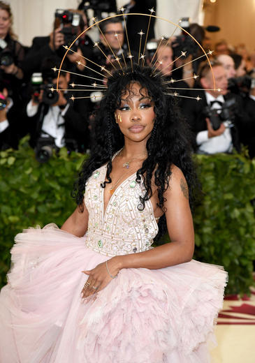 Sza on the 2018 Met Gala red carpet