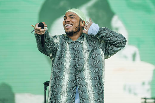 Anderson .Paak & The Free Nationals performing at Lovebox 2018.