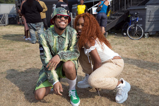 SZA and Anderson .Paak backstage at Lovebox 2018.