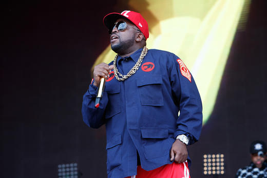 Big Boi performing at Lovebox 2018.