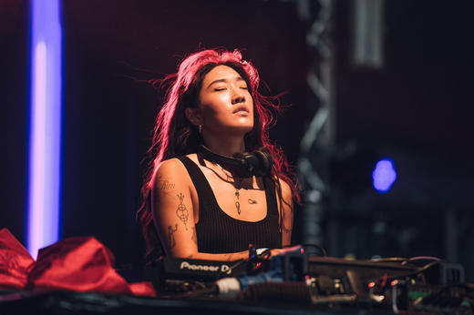 Peggy Gou performing at Lovebox 2018.