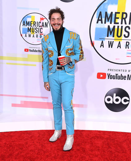 American Music Awards: AMA Red Carpet Looks including Taylor Swift and Post Malone