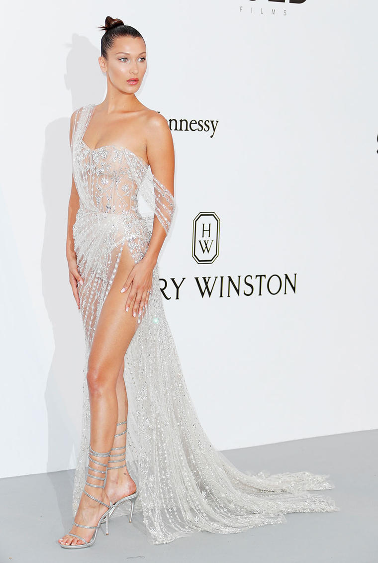 Bella Hadid Takes the Naked Dress to New Heights on the Cannes RedCarpet