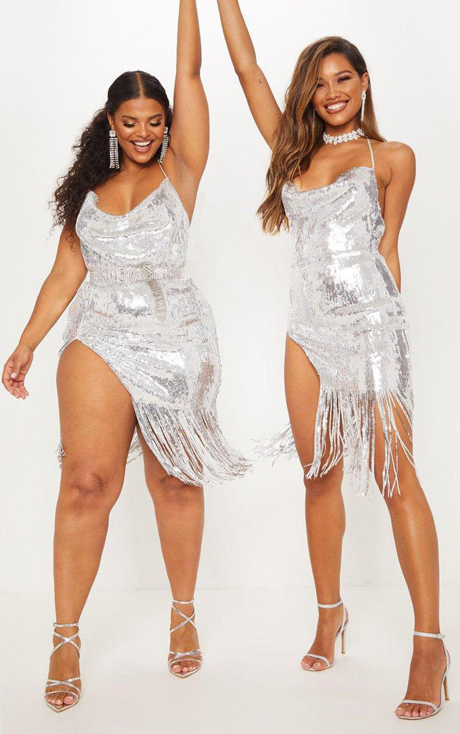 PrettyLittleThing praised for showing outfits on different size models