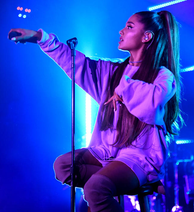 Ariana Grande performs a Sweetener album session in London, September 2018