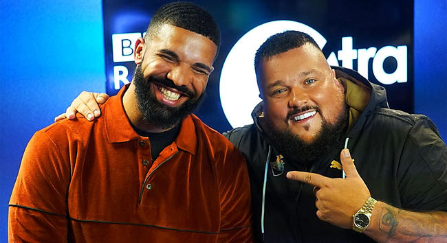 Drake with Charlie Sloth on Fire in the Booth