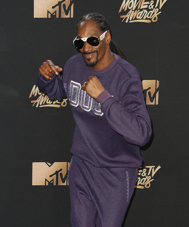 Snoop Dogg attends MTV Movie Awards, 2017