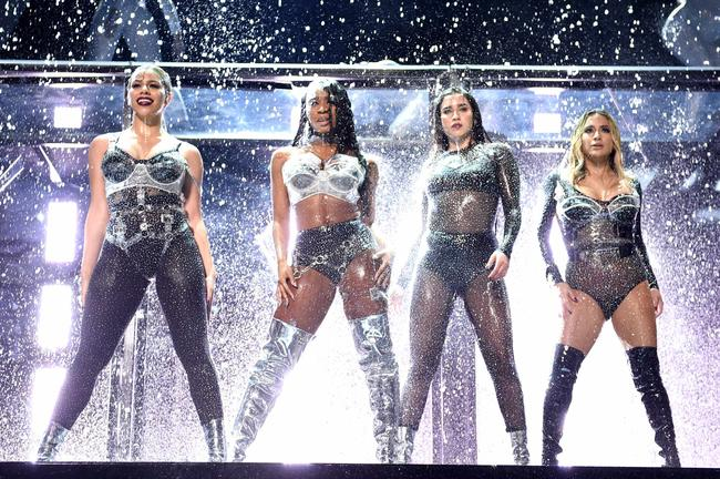 Fifth Harmony perform 'Down' at the 2017 MTV Video Music Awards in August 2017