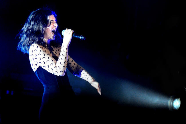 Lorde performs at Alexandra Palace in London, 2017