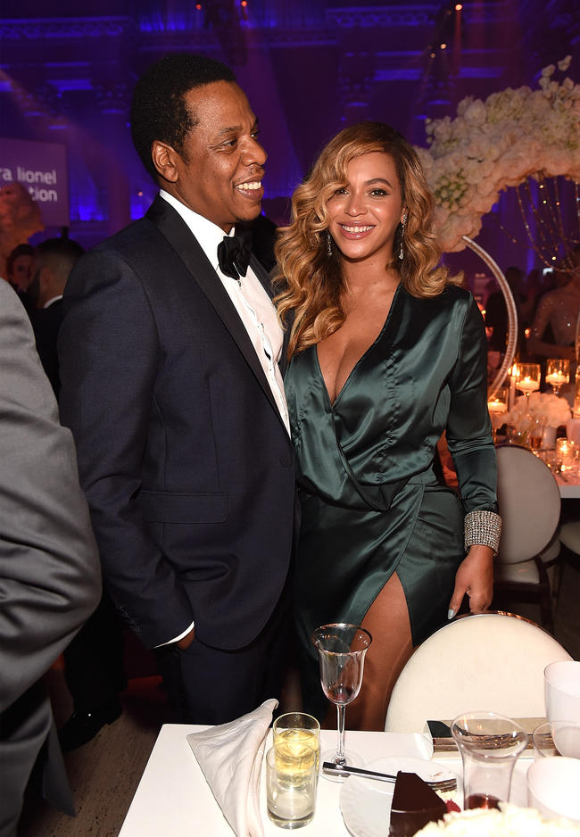 Beyoncé and Jay-Z attend Rihanna's annual Diamond Ball in 2017