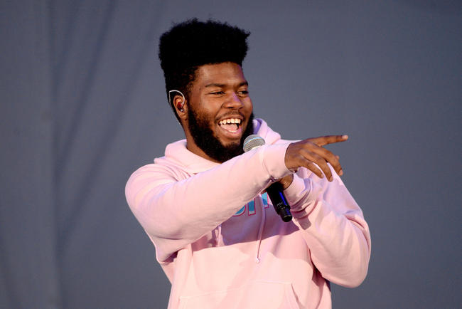 Khalid performing in 2017