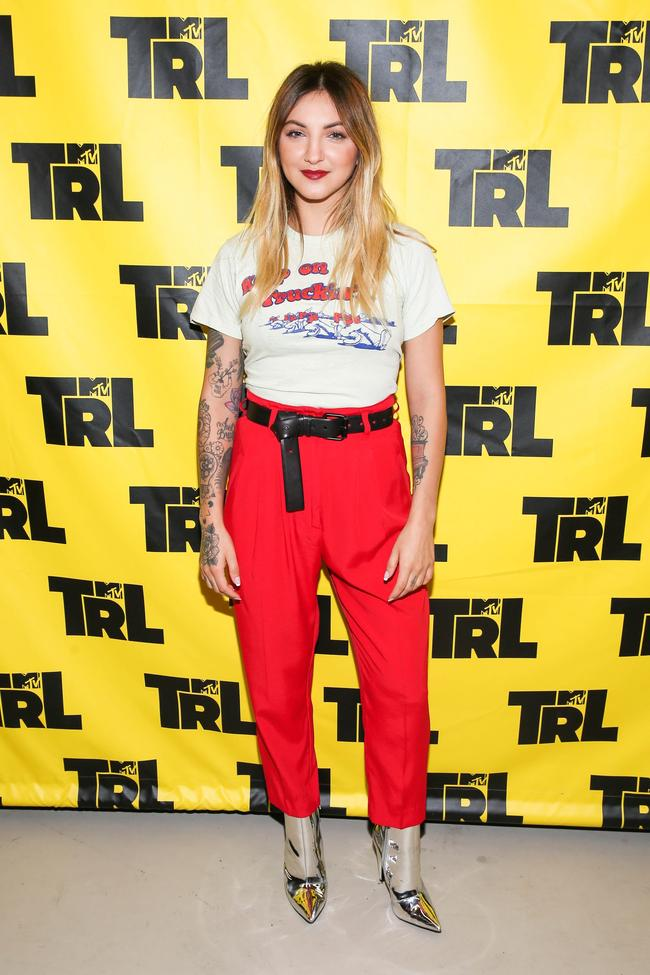 Julia Michaels appears on TRL in New York City, October 2017