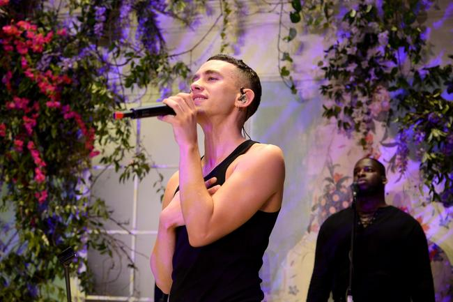 Years & Years' Olly Alexander performs new song 'Hypnotised' at the ERDEM x H&M launch party in New York City, October 2017