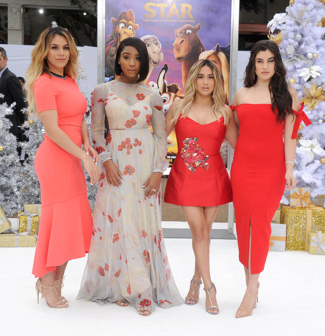 Fifth Harmony appear at the premiere of The Star in October 2017