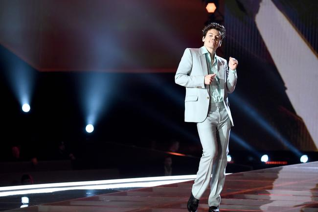 Harry Styles performs 'Only Angel' at the 2017 Victoria's Secret Fashion Show in Shanghai