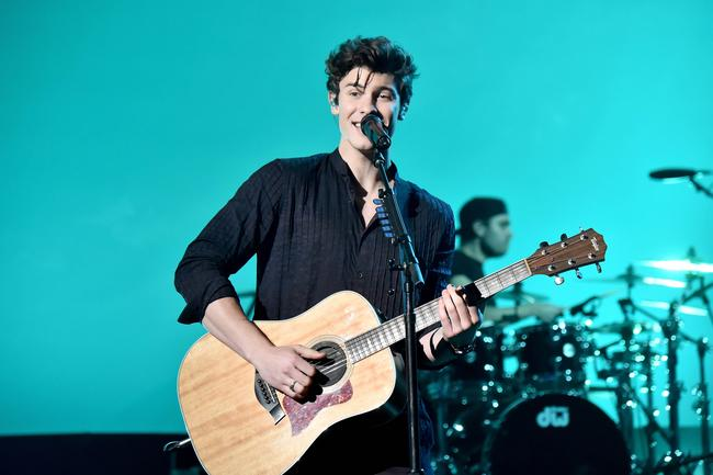 Shawn Mendes onstage during the 2017 American Music Awards at Microsoft Theater on November 19, 2017 in Los Angeles, California