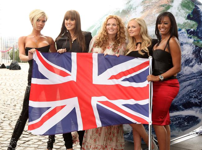 Spice Girls reunite for a press conference in London to announce reunion tour and greatest hits album, 2007