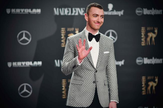 Sam Smith arrives at the Bambi Awards 2017 at Stage Theater on November 16, 2017 in Berlin, Germany
