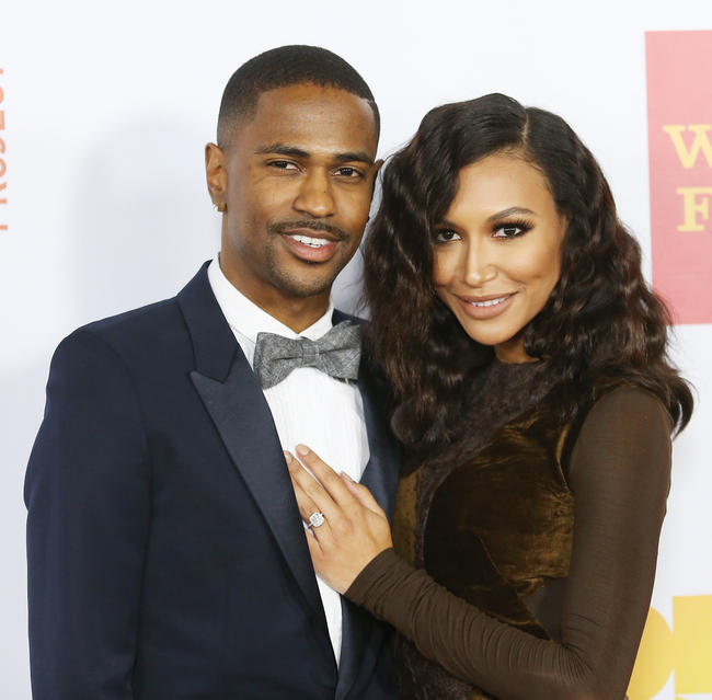 Big Sean (L) and Naya Rivera arrive at the 15th Annual Trevor Project Benefit held at Hollywood Palladium on December 8, 2013 in Hollywood, California
