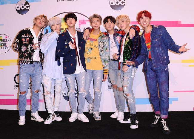 BTS attend the 2017 American Music Awards in November 2017