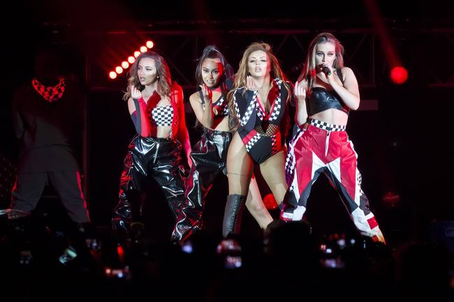 Jesy Nelson, Leigh-Anne Pinnock, Jade Amelia Thirlwall and Perrie Louise Edwards of the British band Little Mix perform live on stage during a concert at the Mercedes-Benz Arena on May 24, 2017 in Berlin, Germany