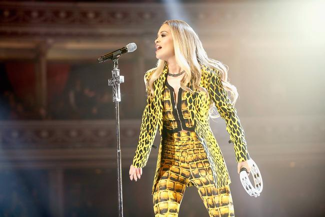 Rita Ora performs during The Fashion Awards 2017 in partnership with Swarovski at Royal Albert Hall on December 4, 2017 in London, England