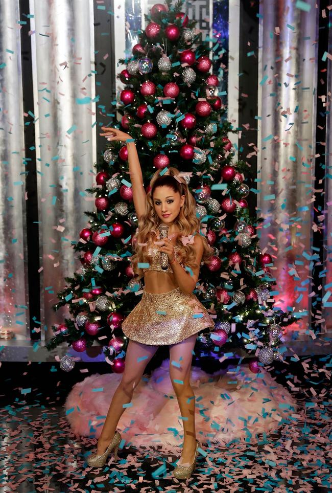 Madame Tussauds Las Vegas launches Ariana Grande wax figure on November 29, 2017 in Las Vegas, Nevada