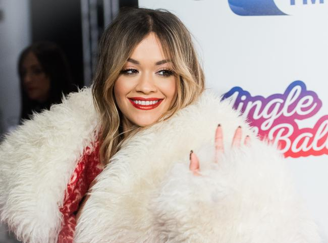 Rita Ora attends the Capital FM Jingle Bell Ball with Coca-Cola at The O2 Arena on December 9, 2017 in London, England