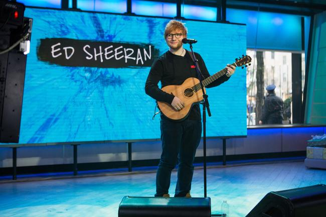 Ed Sheeran on The TODAY Show on Friday, December 8, 2017