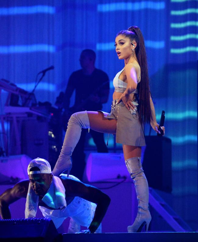 Ariana Grande performing the Dangerous Woman Tour in 2017