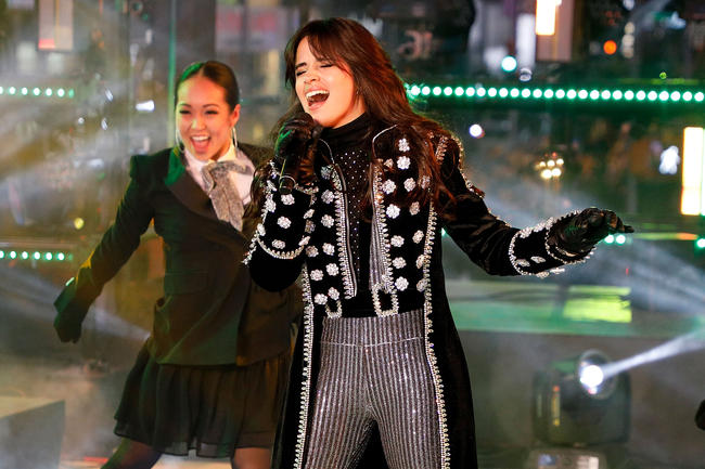 Camila Cabello performs at Dick Clark's New Year's Rockin' Eve in December 2017