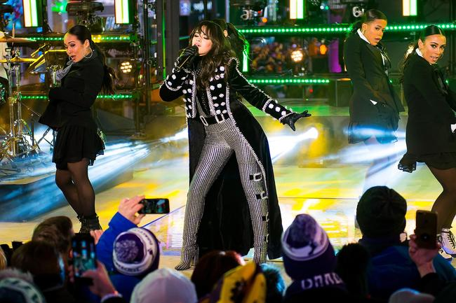Camila Cabello performs during Dick Clark's New Year's Rockin' Eve 2018 at Times Square on December 31, 2017 in New York City