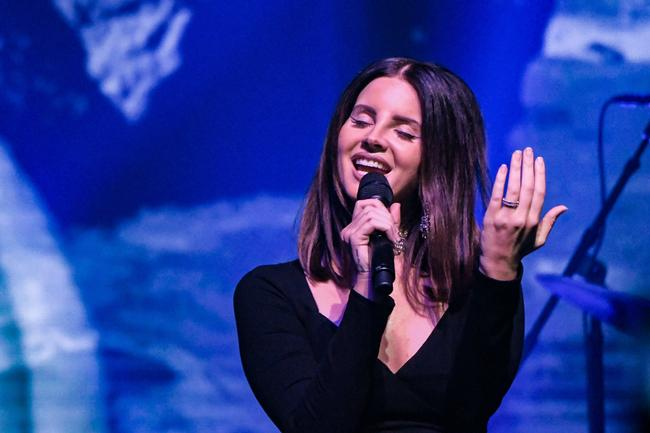 Singer Lana Del Rey performs at Terminal 5 on October 23, 2017 in New York City