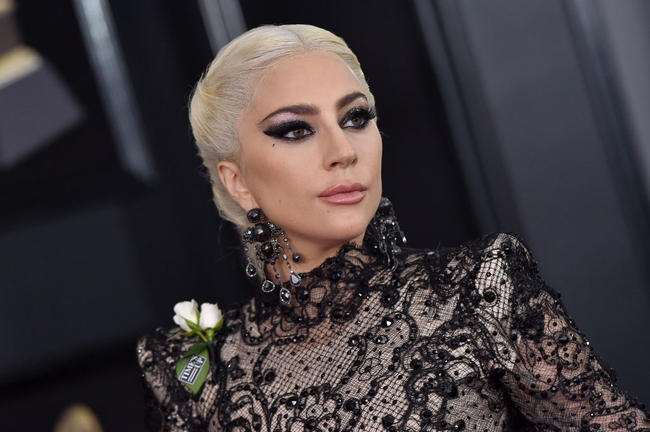 Lady Gaga attends the GRAMMY Awards in January 2018