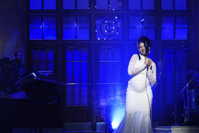 Cardi B performs on Saturday Night Live