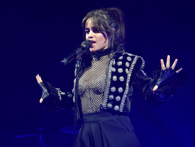 Camila Cabello performing in the US in 2018